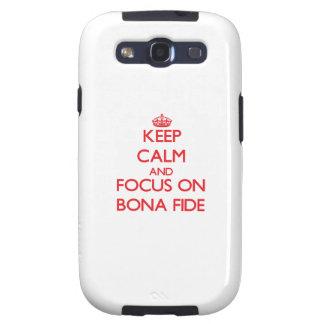 Keep Calm and focus on Bona Fide Samsung Galaxy S3 Covers
