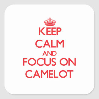 Keep Calm and focus on Camelot Sticker