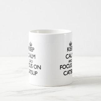 Keep Calm and focus on Catsup Classic White Coffee Mug