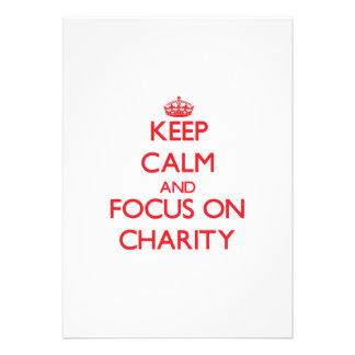 Keep Calm and focus on Charity Custom Announcement