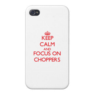 Keep Calm and focus on Choppers iPhone 4 Cover