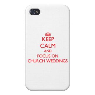 Keep Calm and focus on Church Weddings iPhone 4 Case
