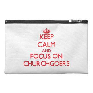 Keep Calm and focus on Churchgoers Travel Accessory Bag