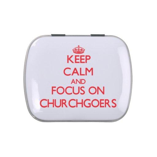 Keep Calm and focus on Churchgoers Candy Tin