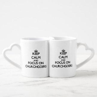 Keep Calm and focus on Churchgoers Lovers Mugs