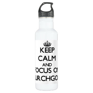 Keep Calm and focus on Churchgoers 24oz Water Bottle