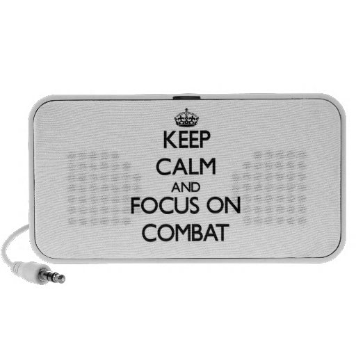 Keep Calm and focus on Combat Mp3 Speakers