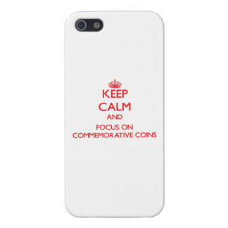 Keep Calm and focus on Commemorative Coins Covers For iPhone 5