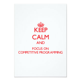 Keep calm and focus on Competitive Programming Custom Invites