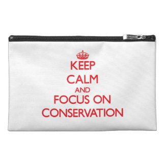 Keep Calm and focus on Conservation Travel Accessory Bag