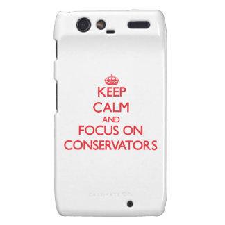 Keep Calm and focus on Conservators Motorola Droid RAZR Cover