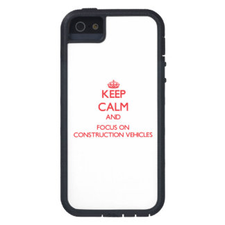 Keep Calm and focus on Construction Vehicles iPhone 5 Case