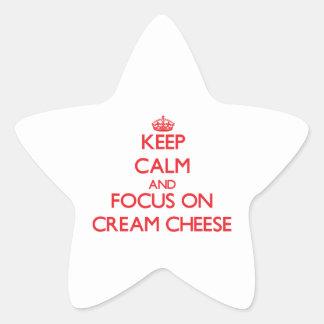 Keep Calm and focus on Cream Cheese Star Sticker