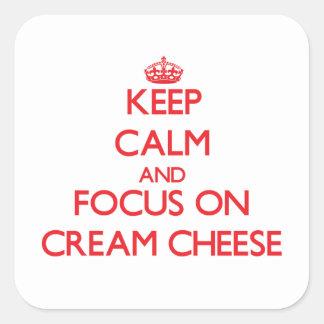 Keep Calm and focus on Cream Cheese Sticker