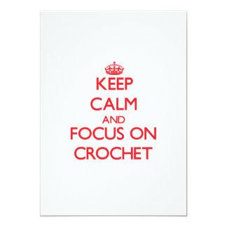 Keep calm and focus on Crochet Card