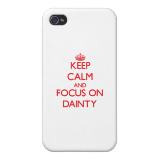 Keep Calm and focus on Dainty iPhone 4/4S Cover