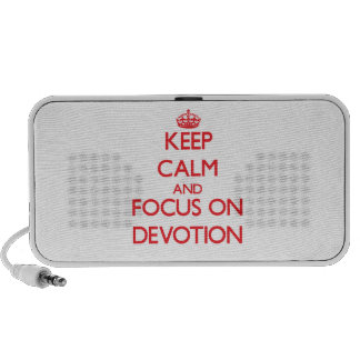 Keep Calm and focus on Devotion PC Speakers