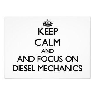 Keep calm and focus on Diesel Mechanics Invite