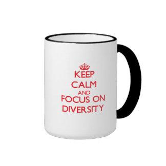 Keep Calm and focus on Diversity Ringer Mug