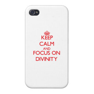 Keep Calm and focus on Divinity iPhone 4/4S Cases