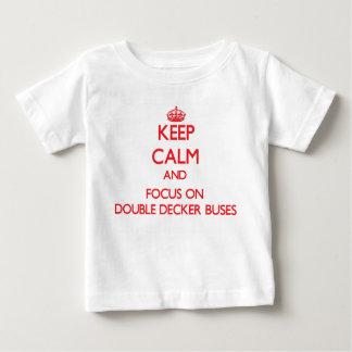 Keep Calm and focus on Double-Decker Buses Tees