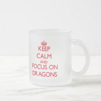Keep Calm and focus on Dragons Mug