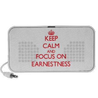 Keep Calm and focus on EARNESTNESS Travel Speaker