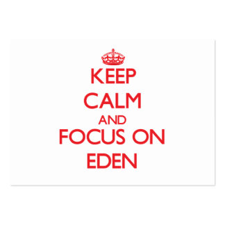 Keep Calm and focus on Eden Business Card Templates