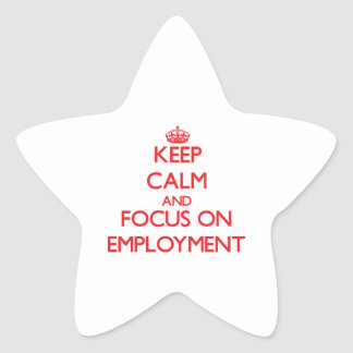 Keep Calm and focus on EMPLOYMENT Star Stickers