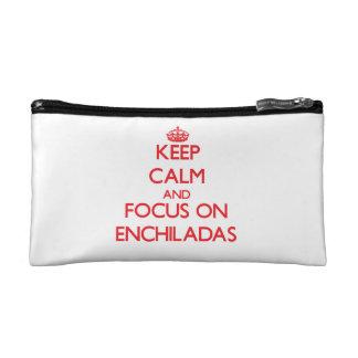 Keep Calm and focus on ENCHILADAS Cosmetic Bag