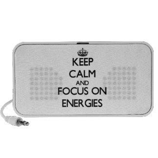 Keep Calm and focus on ENERGIES Travelling Speaker