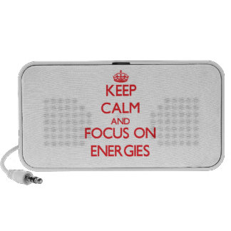 Keep Calm and focus on ENERGIES PC Speakers