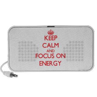 Keep Calm and focus on ENERGY Travel Speaker