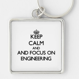 Keep calm and focus on Engineering Keychains
