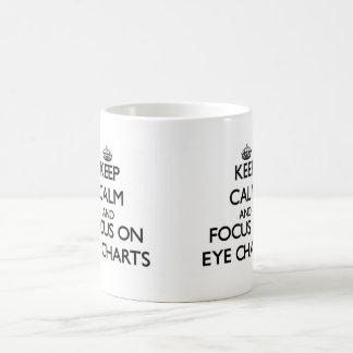 Keep Calm and focus on EYE CHARTS Classic White Coffee Mug