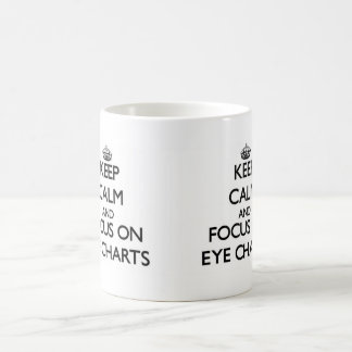 Keep Calm and focus on EYE CHARTS Coffee Mug