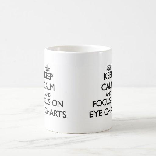 Keep Calm and focus on EYE CHARTS Coffee Mugs
