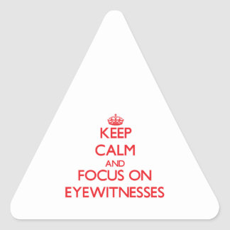 Keep Calm and focus on EYEWITNESSES Triangle Sticker