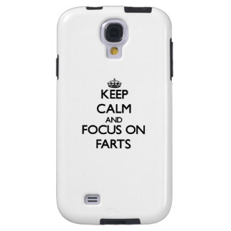 Keep Calm and focus on Farts Galaxy S4 Case