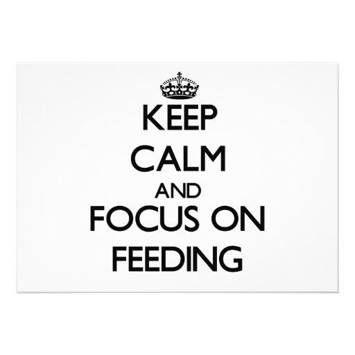 Keep Calm and focus on Feeding Invite