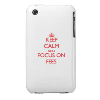 Keep Calm and focus on Fees iPhone 3 Case-Mate Cases