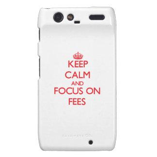 Keep Calm and focus on Fees Motorola Droid RAZR Case