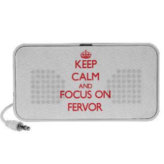 Keep Calm and focus on Fervor Notebook Speakers
