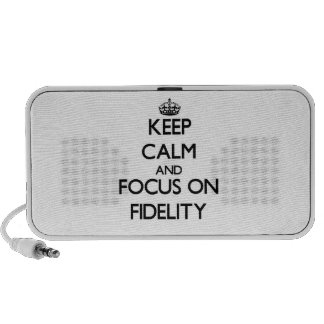 Keep Calm and focus on Fidelity Travel Speakers