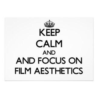 Keep calm and focus on Film Aesthetics Invites