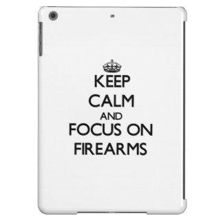 Keep Calm and focus on Firearms iPad Air Cases
