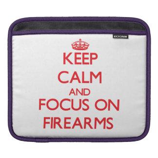 Keep Calm and focus on Firearms Sleeve For iPads