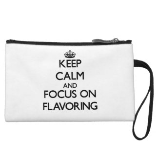 Keep Calm and focus on Flavoring Wristlet Purse