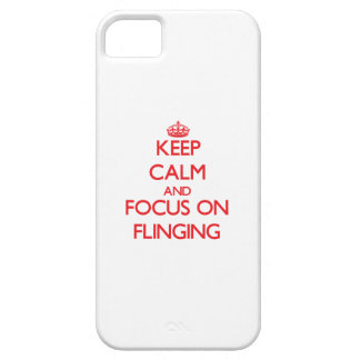 Keep Calm and focus on Flinging iPhone 5 Case