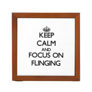 Keep Calm and focus on Flinging Pencil Holder